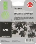 Картридж Cactus CS-PG512 Черный